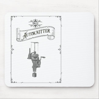 Antique Autoknitter Circular Sockknitting Machine Mouse Pad