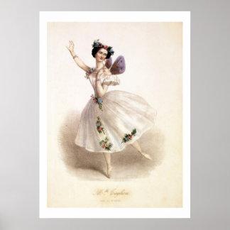 Antique Ballerina Print Marie Taglioni Poster
