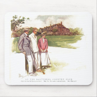 Antique Baltusrol Country Club Cartoon Mouse Pad