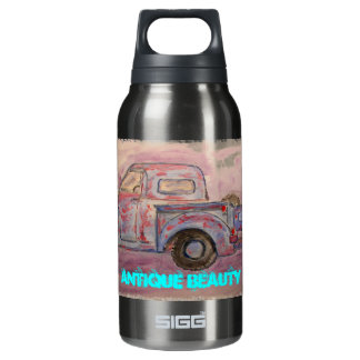 antique beauty blue patina truck 0.3L insulated SIGG thermos water bottle