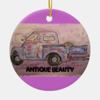 antique beauty blue patina truck christmas ornament
