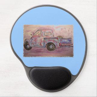antique beauty blue patina truck gel mouse pad