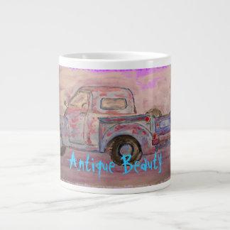 antique beauty blue patina truck giant coffee mug