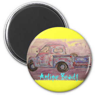 antique beauty blue patina truck magnets