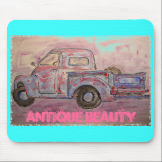 antique beauty blue patina truck mousepad