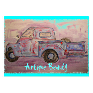 antique beauty blue patina truck pack of chubby business cards