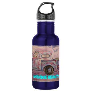 antique beauty blue patina truck 532 ml water bottle