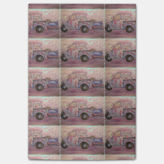antique beauty blue patina truck post-it® notes
