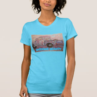 antique beauty blue patina truck t shirt