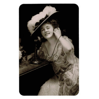 Antique Beauty on Candlestick Telephone Magnet