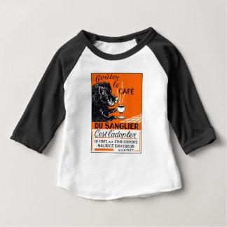 Antique Belgian Coffee Boar Advertising Baby T-Shirt
