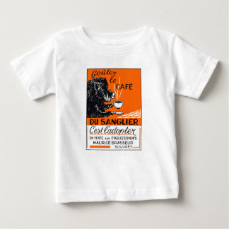 Antique Belgian Coffee Boar Advertising Baby T-Shirt