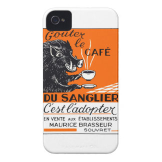 Antique Belgian Coffee Boar Advertising iPhone 4 Covers