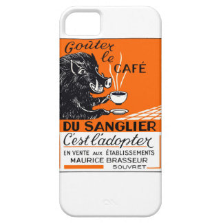 Antique Belgian Coffee Boar Advertising iPhone 5 Cover