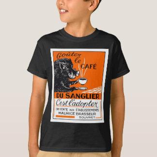 Antique Belgian Coffee Boar Advertising T-Shirt