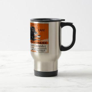 Antique Belgian Coffee Boar Advertising Travel Mug