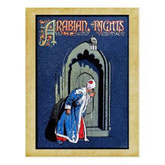 Antique Binding Design Arabian Nights Book Cover Postcard