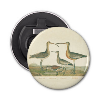 Antique Bird Print Marsh Coastal Bottle Opener