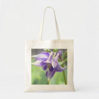 Antique Blue Aquilegia Blossom Tote Bag