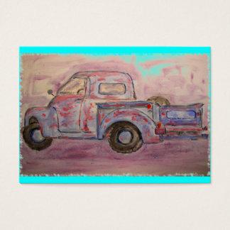 antique blue patina truck