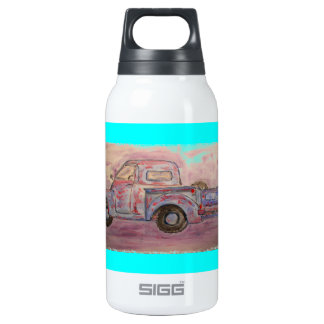antique blue patina truck 0.3L insulated SIGG thermos water bottle