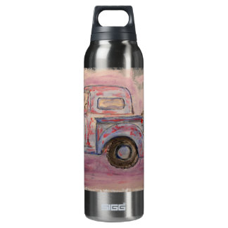 antique blue patina truck 0.5 litre insulated SIGG thermos water bottle