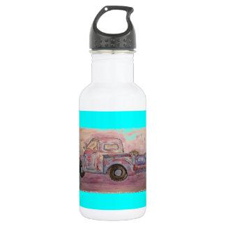 antique blue patina truck 532 ml water bottle