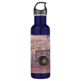 antique blue patina truck 710 ml water bottle