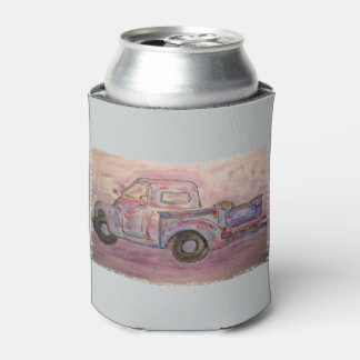 antique blue patina truck can cooler
