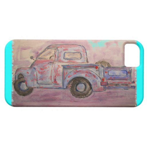 antique blue patina truck iPhone 5 cover