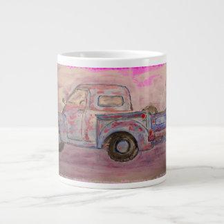 antique blue patina truck jumbo mug