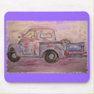 antique blue patina truck mousepads