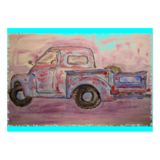 antique blue patina truck pack of chubby business cards
