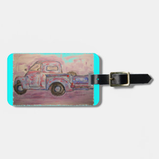 antique blue patina truck tags for luggage