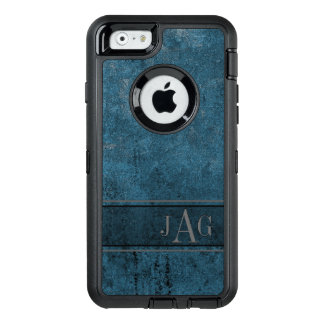 Antique Blue Textured Design OtterBox Defender iPhone Case