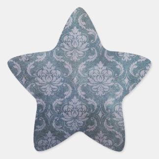 Antique blue wallpaper pattern star sticker