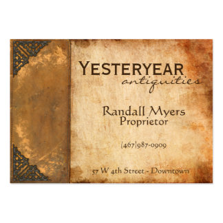 Antique Book Pack Of Chubby Business Cards