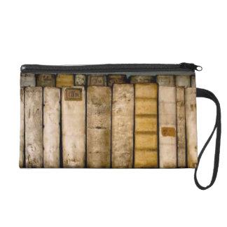 Antique Books 17th Century Vellum Bindings Wristlet Clutch