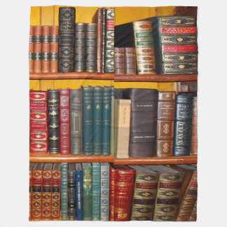 Antique Books Fleece Blanket