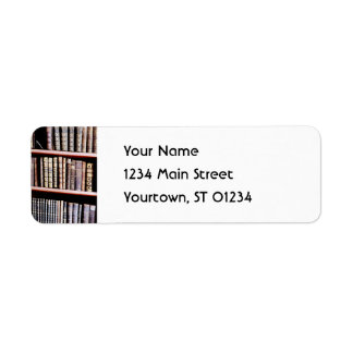 Antique Books on Shelves Return Address Label