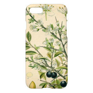 Antique Botanical Blackthorn Floral Drawing iPhone 7 Case