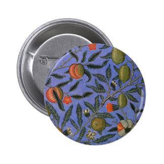 Antique Botanical Design 6 Cm Round Badge