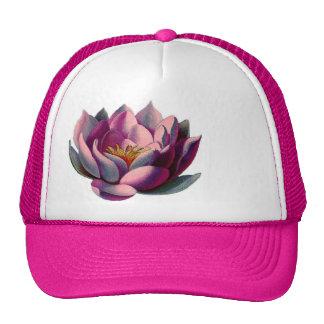 Antique Botanicals Pink Water Lily Lotus Hat