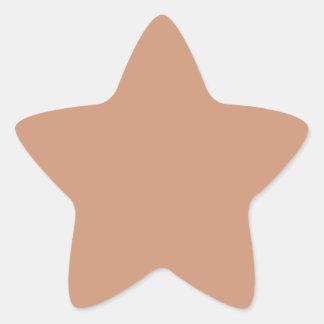 Antique Brass Background Star Stickers