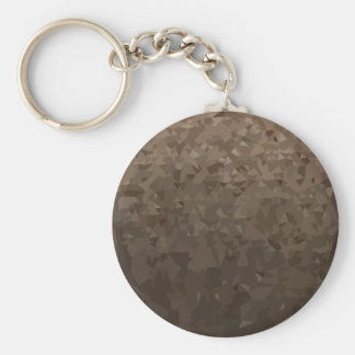 Antique Brass Camo Abstract Low Polygon Background Basic Round Button Key Ring