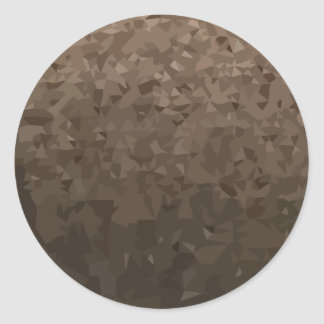 Antique Brass Camo Abstract Low Polygon Background Classic Round Sticker