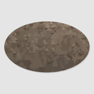Antique Brass Camo Abstract Low Polygon Background Oval Sticker