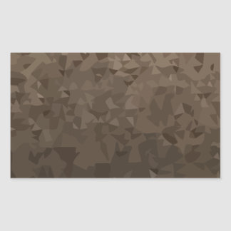 Antique Brass Camo Abstract Low Polygon Background Rectangular Sticker