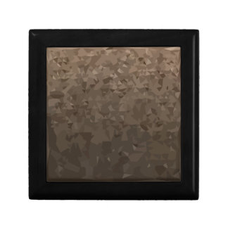 Antique Brass Camo Abstract Low Polygon Background Small Square Gift Box