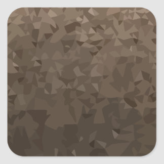 Antique Brass Camo Abstract Low Polygon Background Square Sticker